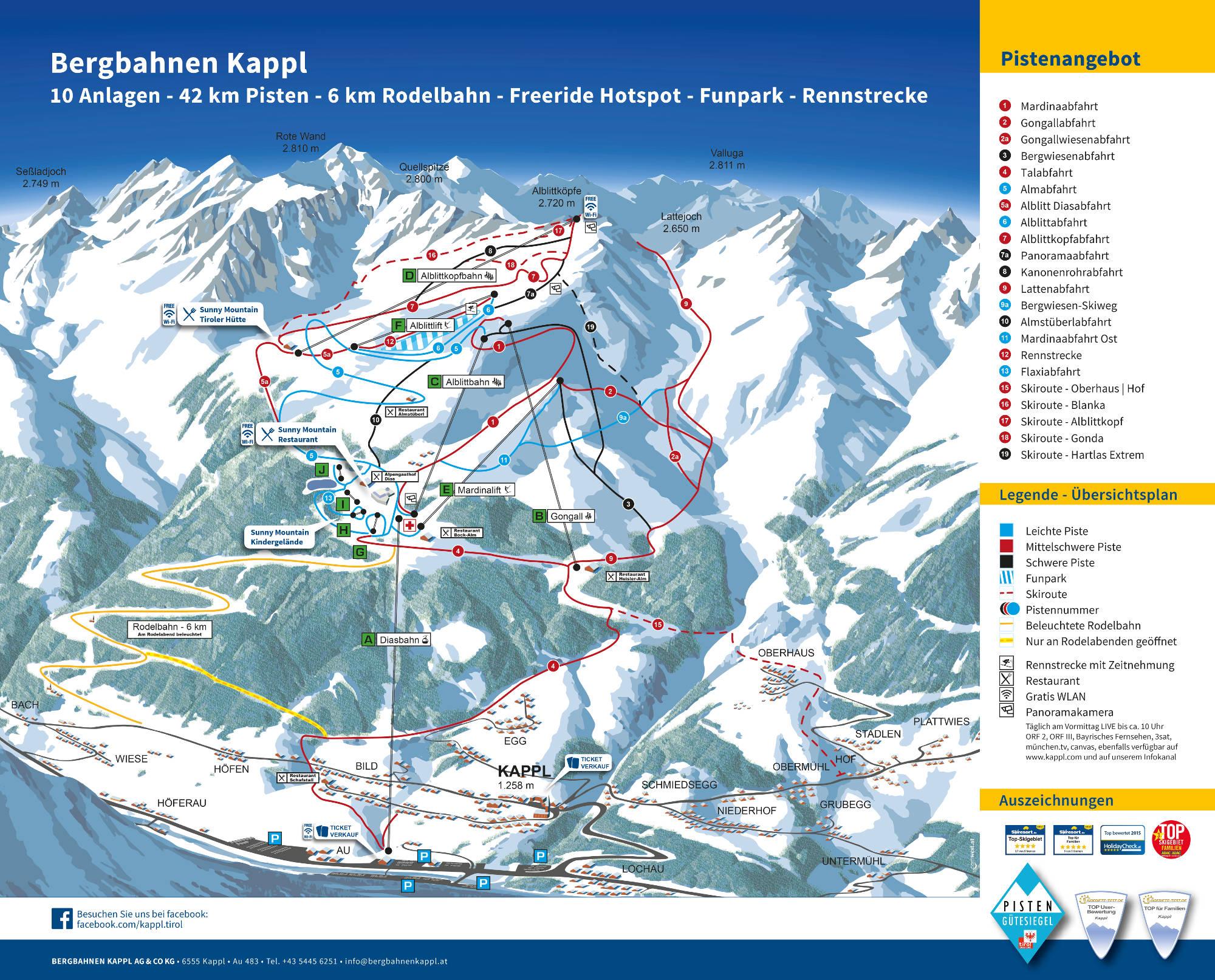 Lifte, Pisten und Skigebiete in XY